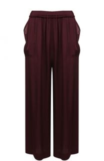 Укороченные широкие брюки с эластичным поясом Raquel Allegra