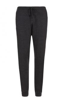 Шерстяные брюки прямого кроя с поясом на кулиске John Smedley
