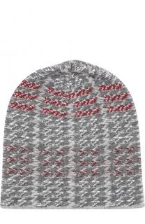 Вязаная шапка с узором houndstooth Johnstons Of Elgin
