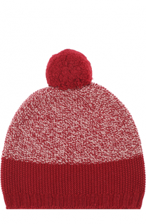 Вязаная шапка из кашемира с помпоном Johnstons Of Elgin