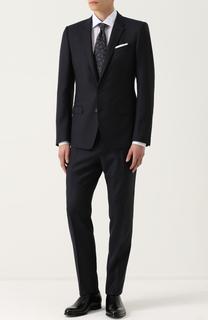 Шерстяной костюм с приталенным пиджаком на двух пуговицах Dolce & Gabbana