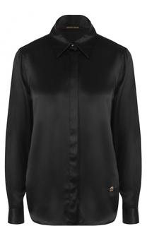 Шелковая блуза прямого кроя Roberto Cavalli