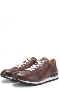 Кожаные кроссовки на шнуровке Tod's