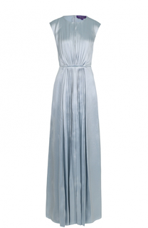 Платье-макси с круглым вырезом и драпировкой Ralph Lauren