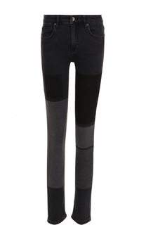 Укороченные джинсы-скинни с потертостями Victoria by Victoria Beckham