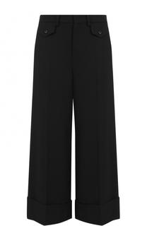 Укороченные широкие брюки со стрелками No. 21