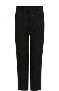 Укороченные кружевные брюки прямого кроя No. 21
