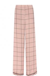 Шелковые брюки с пижамном стиле в клетку Valentino