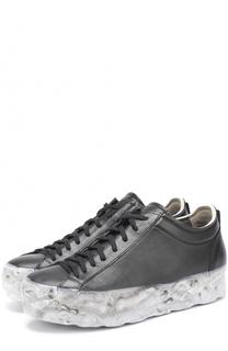 Кожаные кеды на шнуровке OXS rubber soul