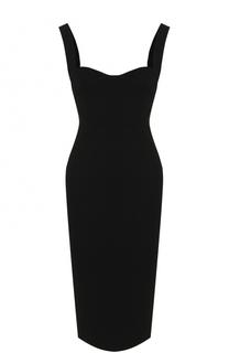 Платье-футляр с фигурным вырезом Victoria Beckham