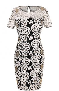 Приталенное платье-миди с вышивкой St. John