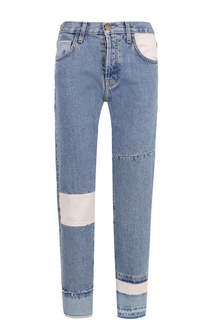 Укороченные джинсы прямого кроя с потертостями Current/Elliott
