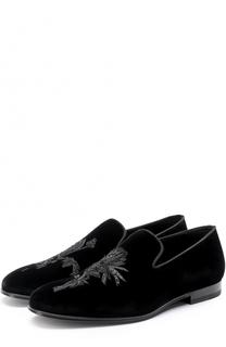Текстильные слиперы с вышивкой Alexander McQueen