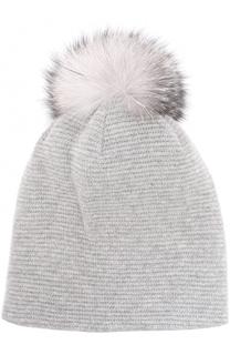 Вязаная шапка из шерсти с помпоном Inverni