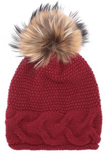 Вязаная шапка из шерсти с помпоном Artiminesi