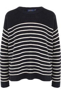 Вязаный пуловер свободного кроя в полоску Polo Ralph Lauren