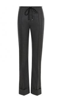 Шерстяные брюки со стрелками и отворотами Kenzo