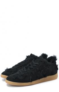 Замшевые кроссовки с декоративной отделкой Maison Margiela
