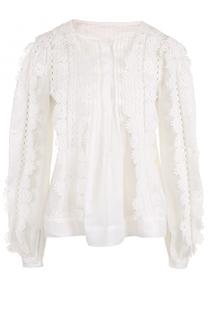 Блуза свободного кроя с кружевной отделкой Isabel Marant