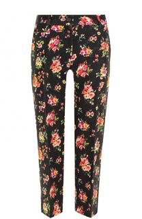 Укороченные брюки с цветочным принтом Dolce & Gabbana