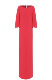 Платье-макси прямого кроя St. John