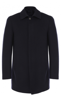 Укороченной пальто из смеси шерсти и кашемира с шелком Brioni