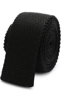 Шелковый вязаный галстук BOSS