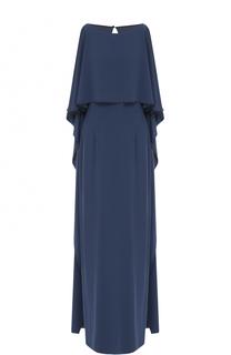 Платье-макси с оборками St. John