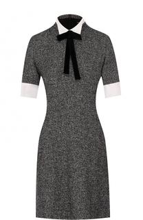 Приталенное платье из смеси кашемира и шерсти Kiton