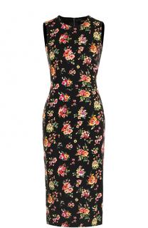Платье-миди с цветочным принтом Dolce & Gabbana
