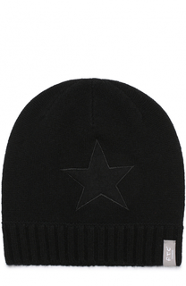Кашемировая шапка с аппликацией FTC