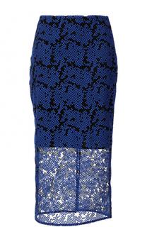 Юбка-миди с декоративной отделкой Diane Von Furstenberg