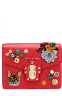Сумка Lucia с аппликациями Dolce & Gabbana