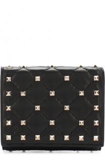 Кожаный бумажник с металлическими заклепками Valentino