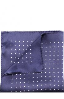 Шелковый платок с узором HUGO