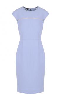 Шерстяное платье-футляр Escada