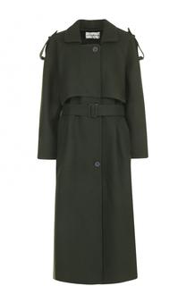 Шерстяное однобортное пальто с поясом Walk of Shame