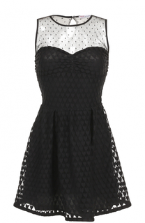 Мини-платье с полупрозрачной вставкой REDVALENTINO