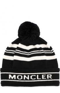 Шерстяная шапка с помпоном Moncler