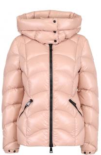 Пуховая куртка на молнии с капюшоном Moncler