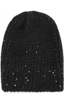 Вязаная шапка с отделкой из пайеток Koshakova
