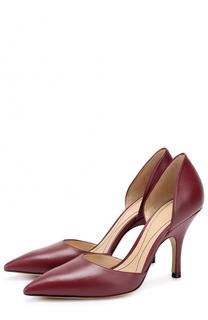 Кожаные туфли dOrsay на шпильке Giorgio Armani