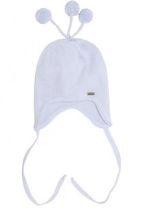 Шерстяная  шапка с помпонами Il Trenino