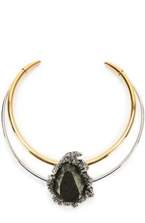 Колье-чокер с декором из камня Alexander McQueen