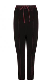 Бархатный брюки с карманами и эластичным поясом Nina Ricci