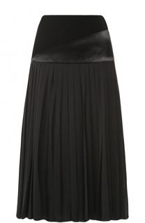 Плиссированная юбка-миди Lanvin