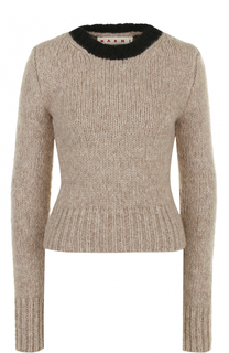 Приталенный шерстяной пуловер Marni