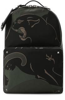 Текстильный рюкзак с принтом Valentino