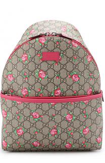 Текстильный рюкзак с принтом Gucci