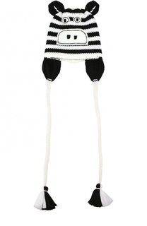 Шерстяная шапка с принтом и декором Catya